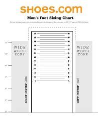 Mens Shoe Measurement Chart Mens Foot Sizing Chart