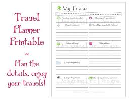 Vacation Travel Planner Printable Pdf Sheets My Trip To Etsy
