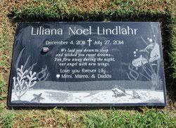 "Liliana Noel ""Lily"" Lindlahr (2011-2014) - Find A Grave Memorial"