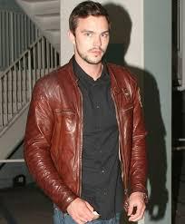 brown leather motorcycle jacket mens