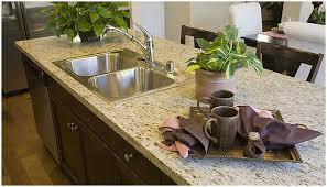 giallo ornamental granite with an eased edge