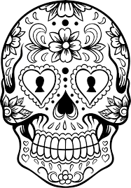 Small Picture Amazing Sugar Skull Coloring Page 19 On Line Drawings with Sugar