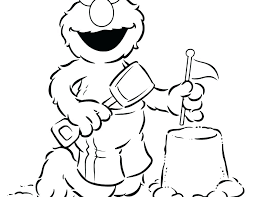 Baby Sesame Street Coloring Pages To Print Printable At The Beach