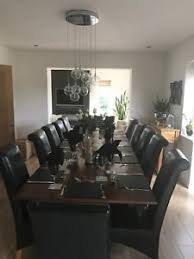 image is loading 6 black leather dining room chairs