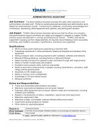 Administrative Assistant Job Summary Resume Best Of Administrative Assistant Professional Summary Samples Examples Of