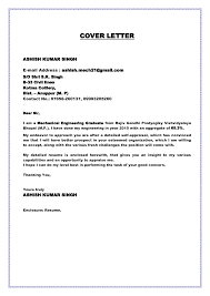 Mechanical Engineering Cover Letter Sample Cover Letter For A