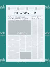 Graphical Design Newspaper Template Highlighting Figures And ...