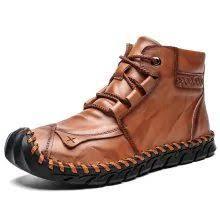 <b>SENBAO Men's</b> Autumn Winter Lace Up Mid-high <b>Boots</b> Hand ...