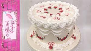 Beautiful One Tier Anniversary Cake Lambeth Style Youtube