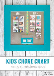 Chore Chart For Adults App Diy Kids Photo Chore Chart My Sisters Suitcase Packed