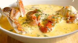 seafood cream soup recipe ...طريقة عمل ...