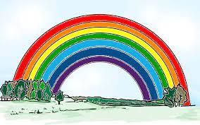 Manchmal erscheint über einem kräftigen hauptregenbogen noch ein schwächerer. Regenbogen Gegen Corona Der Schubi Blog