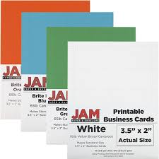 Printable Business Cards 3 12 X 2 Jam Paper