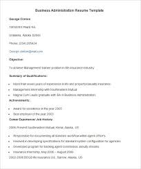 administration resume template –    free samples  examples    business administration resume template