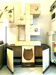 outdoor cat tree house wooden plans best ideas do it yourself over