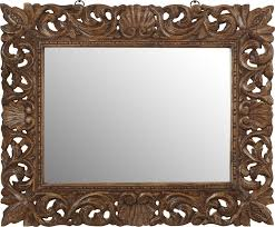 astounding ideas wood wall mirror mirrors decorative with shelf uk antique african aged distressed dark