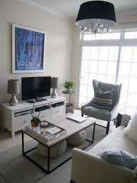 ... Living Room Layout Ideas Best Minimalist Design White Sofa Fabric Seat  Cover Rectangle Wooden Table Hanging ...