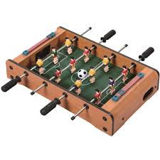 Miniature Wooden Foosball Table Game WOODEN MINI TABLE TOP GAME SET KIDS DESKTOP ARCADE PLAY TOY FAMILY 5