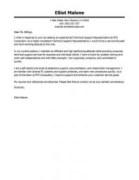 Tech Cover Letter Nice Ideas Support Cover Letter