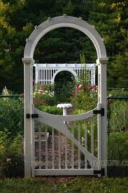 garden arch with gate arched arbor custom for house wooden