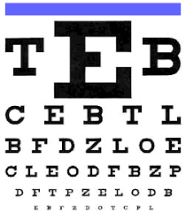 eyes with our distance acuity chart