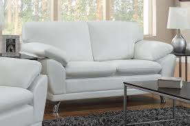 robyn white leather loveseat  stealasofa furniture outlet los