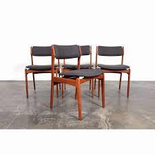 danish modern teak dining chairs best of eric buch o d mobler mid century modern teak dining