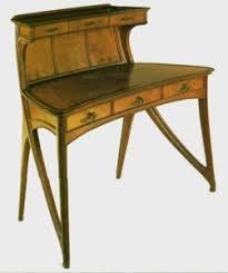 art nouveau furniture. gaillard creates sober furniture with very soft lines. art nouveau