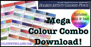 Mega Holbein Colour Combo Chart In 2019 Coloring Color