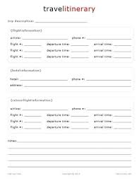 Word Travel Itinerary Template Sample Travel Itinerary Template Serpto Carpentersdaughter Co