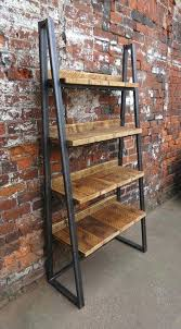 metal and wood shelving industrial chic reclaimed custom steel and wood bookcase by metal and wood metal and wood shelving
