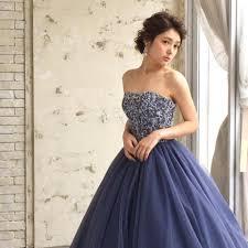 今ほしいのはオトナ色人気の紺色ドレス5選 ドレッシーズ プレ花嫁
