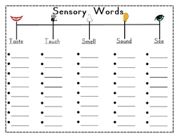 Freebie Sensory Words Graphic Organizer