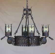 zoom rustic gothic chandelier