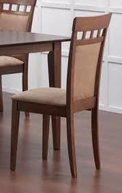 dining chair pack of 2 walnut chairdining chair setdining tablefurniture chairscoaster furniturefine furnitureside