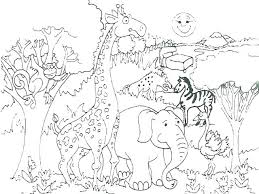 Zoo Animal Coloring Pages Printable Forest Animal Coloring Pages