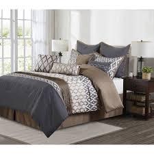 grey and brown comforter sets nanshing caval grey and brown 10 piece polyester comforter set 9d7396e9