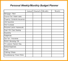 Personal Weekly Budget Templates Easy Budget Planner Template