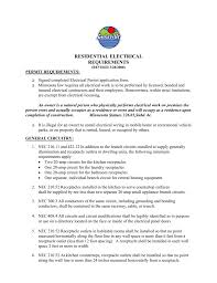 Residential Electrical Requirements