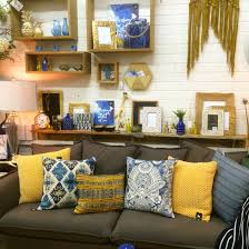 mustard and indigo shop display home decor and interiors at