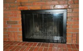 Painted Fireplace Doors With Different Finishes Brick Anew | Hot ...