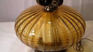 lamp vintage mid century amber glass table lamp tiffany amber table with phenomenal amber table