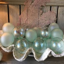Decorative Glass Balls For Bowls frosted glass Cottage Furnishings Coastal Accessories Furniture 88
