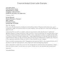 Business Analyst Cover Letter Cover Letter For Business Analyst