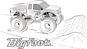 Monster Truck Coloring Pages Printable 217 Khoabaove