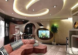 Art - Ceiling design in living room - amazing, suspended ceilings