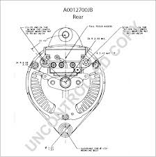 ajb alternator product details leece neville a0012700jb rear dim drawing