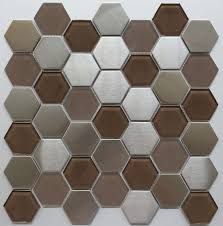 hexagon metal mosaic stainless steel and ctystal glass mosaic tile manufacturers suppliers professional factory yueshan enterprise