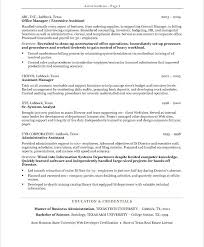 Sample Resumes For Office Assistant Executive Administrative