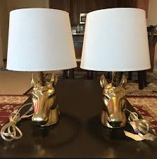 Unicorn Table Lamp Pair Gold 50 For Sale In Minneapolis St